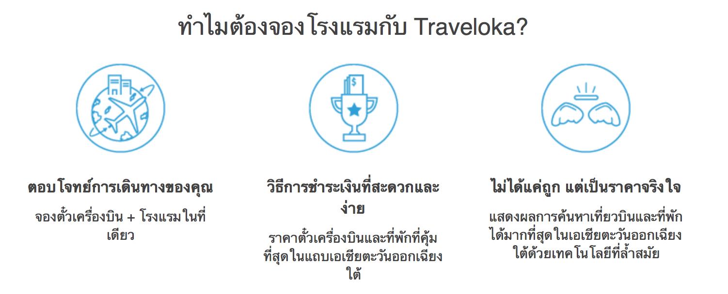 ทำไมต้องจองโรงแรมกับ Traveloka