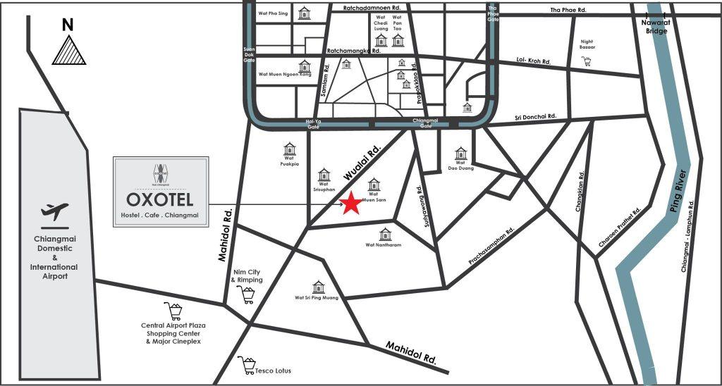 Oxotel Hostel Map