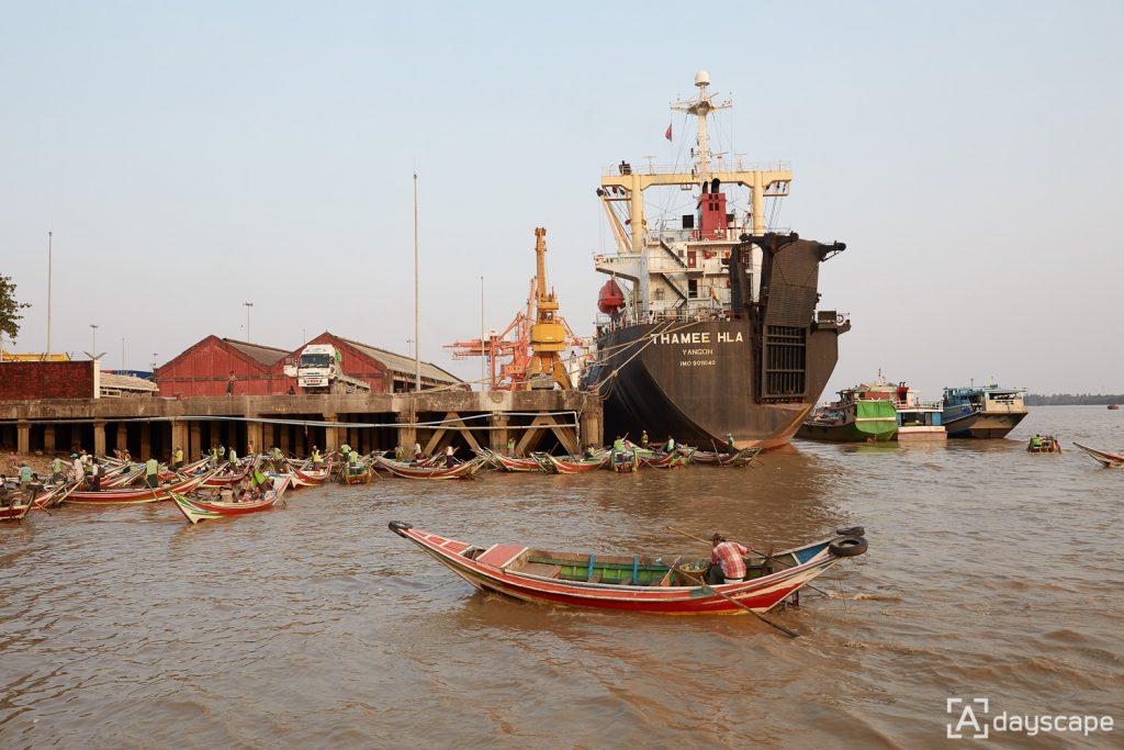 ย่างกุ้ง - Pansodan Ferry Area 4